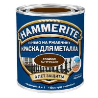Эмаль гладкая коричневая, 0,5л Хаммерайт