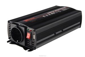 Преобразователь напряжения WESTER MSW 600 инверторный, 12-220 В+USB (77427)