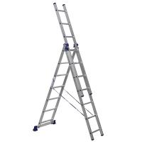 """Лестница 3х секц. """"Алюмет"""" 3*8, 5,04м"""