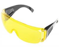 Очки защитные Желтые с дужками, линзы 2мм STURM