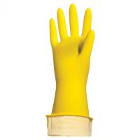 "Перчатки хоз. латексные с х/б напылением M желтые  ""LUX"