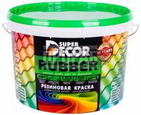 Краска резиновая Super Decor №14 изумруд 6 кг